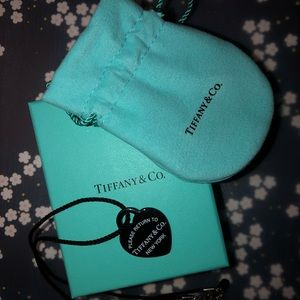 Tiffany & Co. Black Bone Heart Necklace